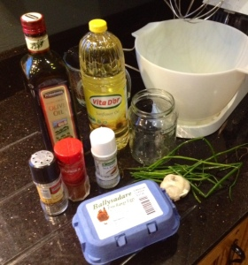 Ingredients for Delicious Creamey Garlic Mayonnaise from anewu.ie