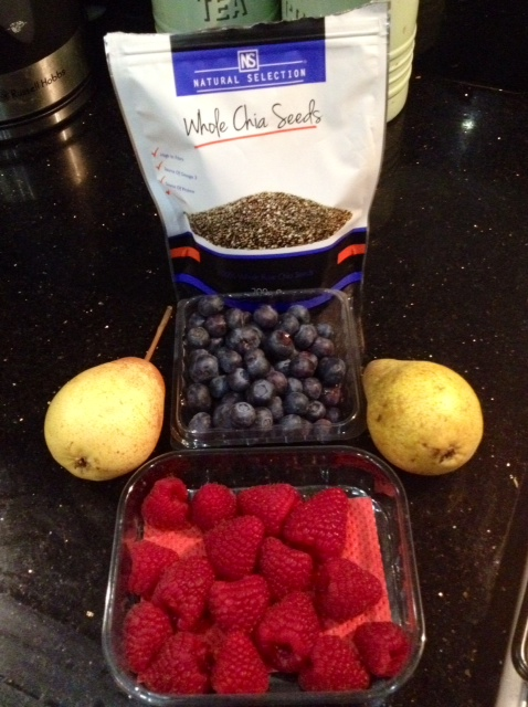 Chia seed jam ingredients from anewu.ie