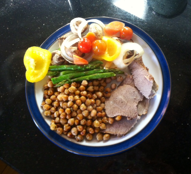 Chickpeas with Roast beef & Veg from www.anewu.ie