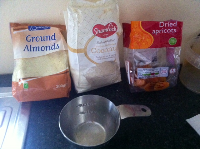 Apricot & Almond ball ingredients from anewu.ie
